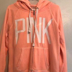 pink peach zip up jacket